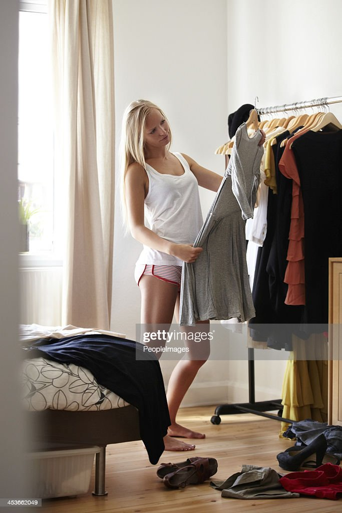Making important style choices : Stock Photo