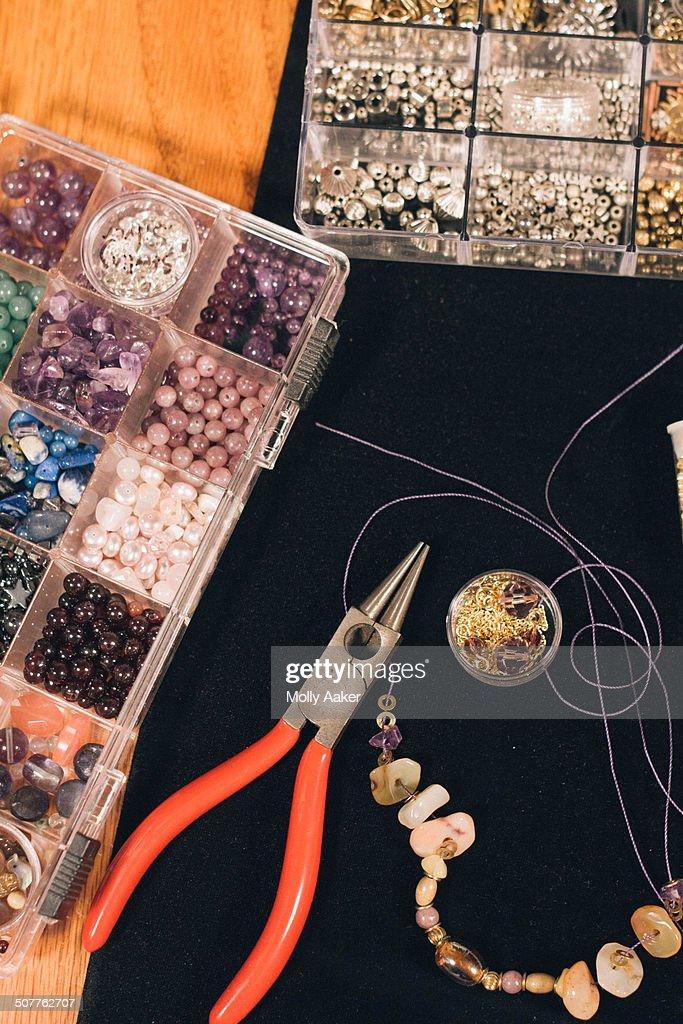 Making jewelry : Stock Photo