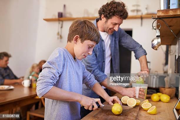 Making lemonade for the family