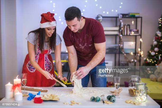 Making love cookies samen