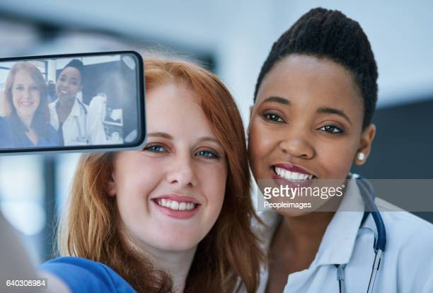 Making medical history calls for a selfie