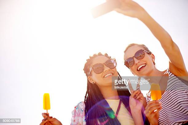 making memories that will last forever - flavored ice stock photos and pictures