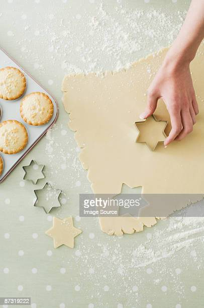 Making mince pies and cookies