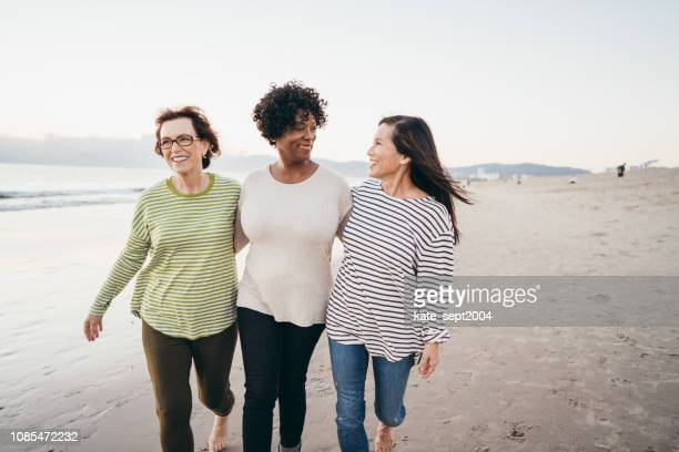 making new connections on your retirement walks - friendship stock pictures, royalty-free photos & images