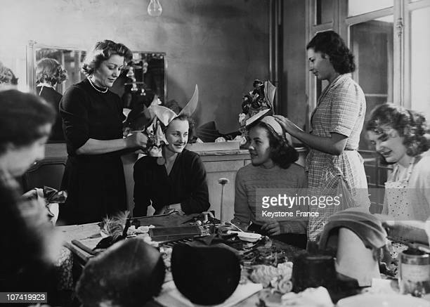 Making Of Catherinettes Hats At Place Vendome In Paris On 1948