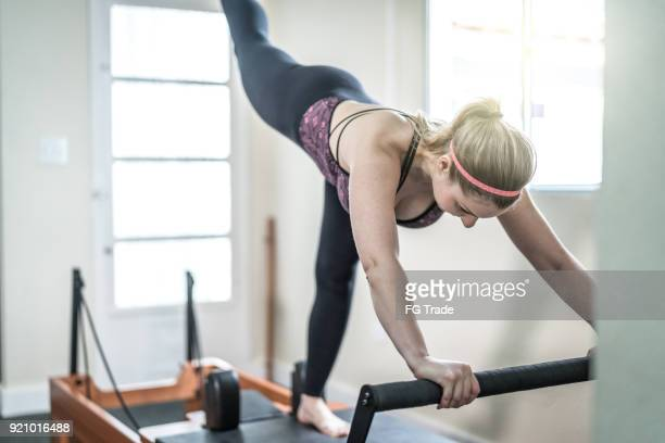 making progress every day - pilates foto e immagini stock