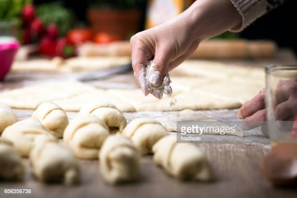 making rolls - cream cake stock pictures, royalty-free photos & images