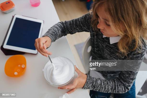 making slime - young thick girls stock photos and pictures