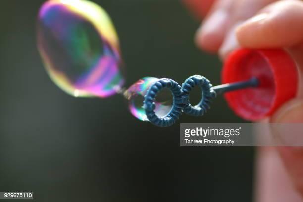 Making soap bubbles
