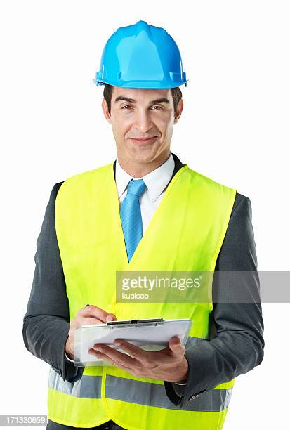 making sure the project runs smoothly and safely - waistcoat stock photos and pictures
