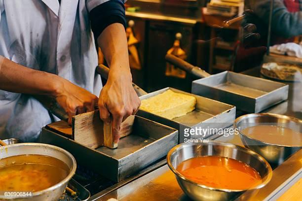 Making Tamagoyaki - Japanese-style omelette