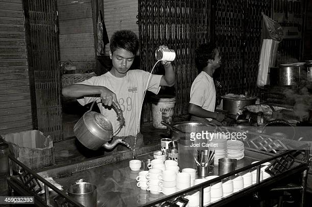 Making tea in Myanmar