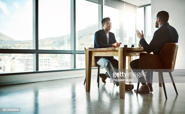 making that million dollar pitch - job interview stock pictures, royalty-free photos & images