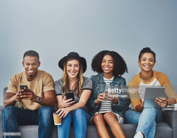 making that social connection - generation z stock pictures, royalty-free photos & images