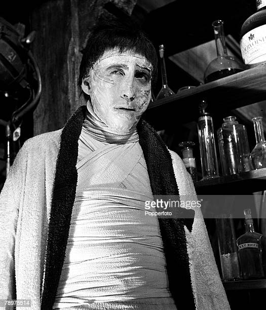 1957 Making the film 'The curse of Frankenstein' at Bray studios Christopher Lee a star of the film