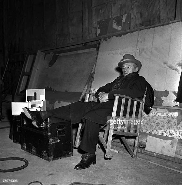 1952 Making the film The man who watched the trains go by Claude Rains pictured sitting down