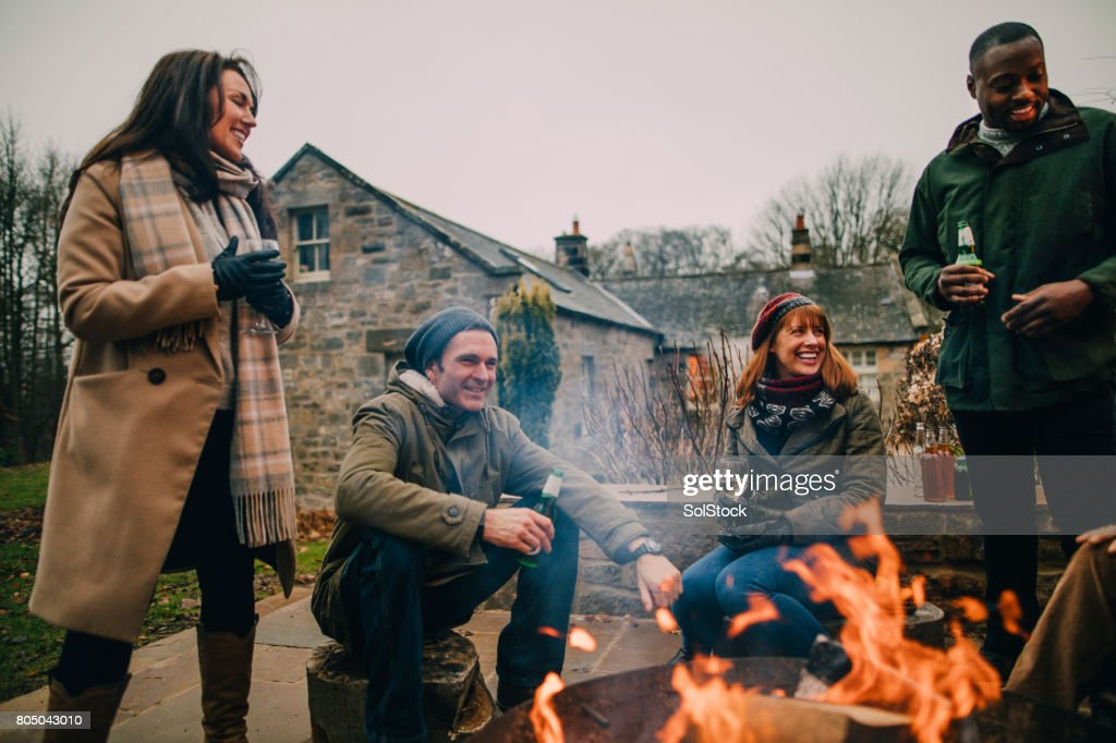 Making the Most of the Winter Weather : Stock Photo
