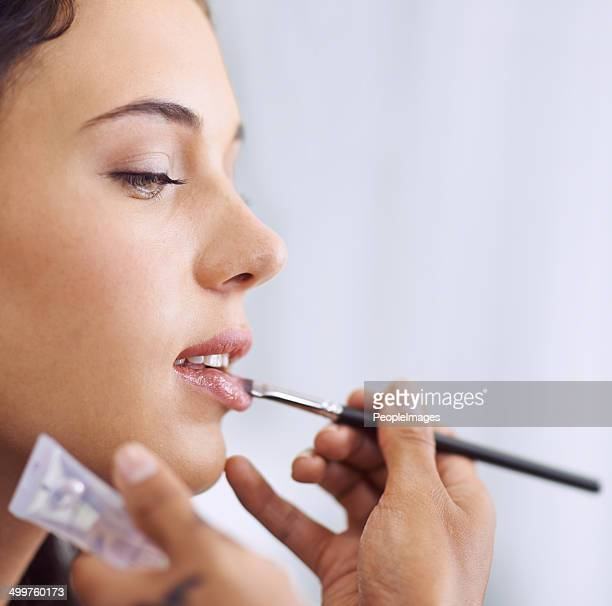 Making these lips look plump and luscious