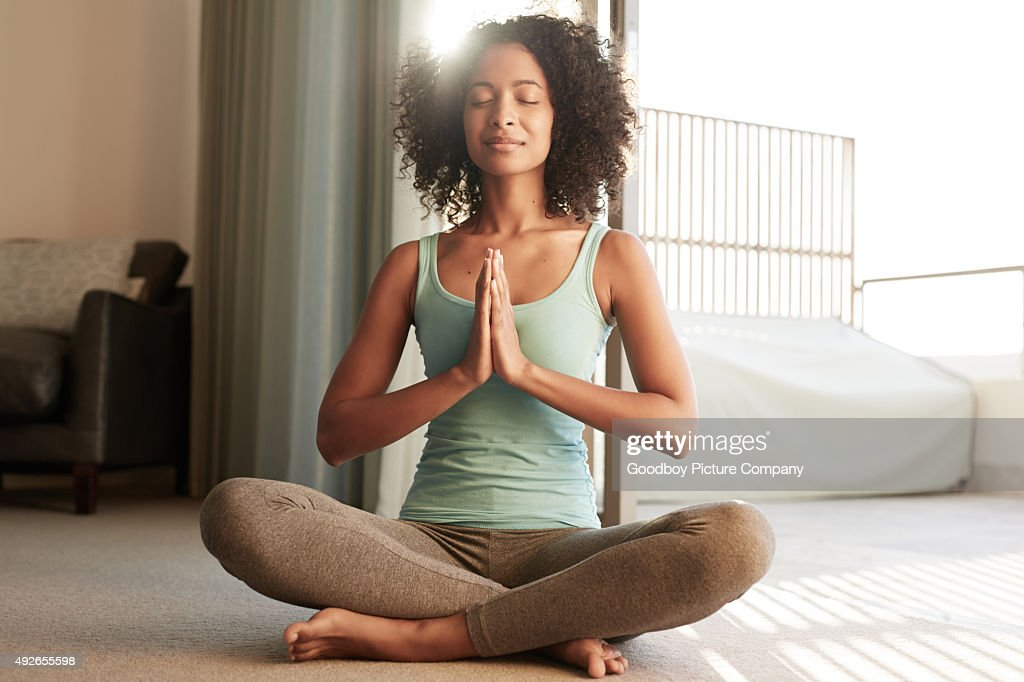 Making time to meditate : Stock Photo