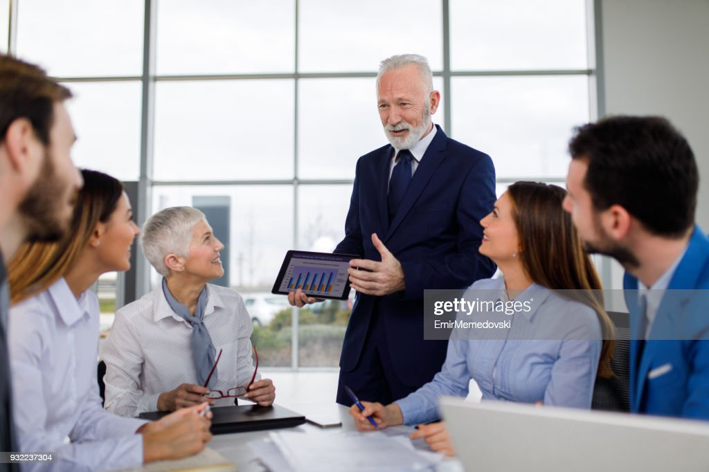 Making use of modern technology for a modern business : Stock Photo