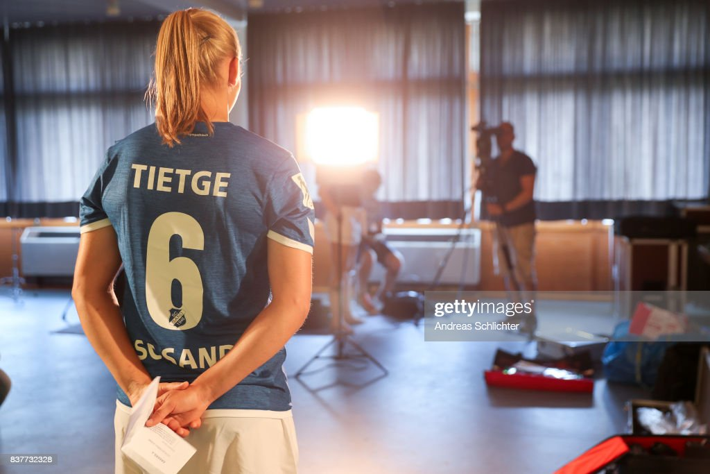 Making-of / behind the scenes during the Allianz Women's Bundesliga Tour of SC Sand during the Allianz Frauen Bundesliga Club Tour at on August 22, 2017 in Willstatt, Germany.