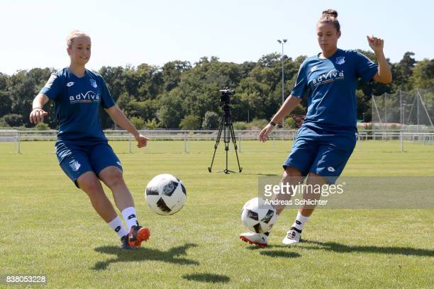 Makingof / behind the scenes during the Allianz Women's Bundesliga Tour of 1899 Hoffenheim during the Allianz Frauen Bundesliga Club Tour at on...