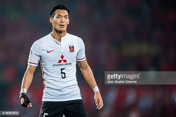 Makino Tomoaki of Urawa Red Diamonds looks on during the AFC Champions League match between Guangzhou Evergrande and Urawa Red Diamonds on March 16...