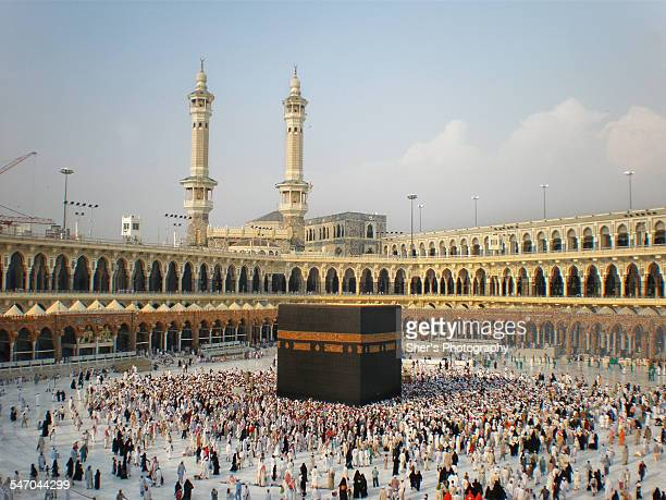 makkah before the extension project - kaaba fotografías e imágenes de stock