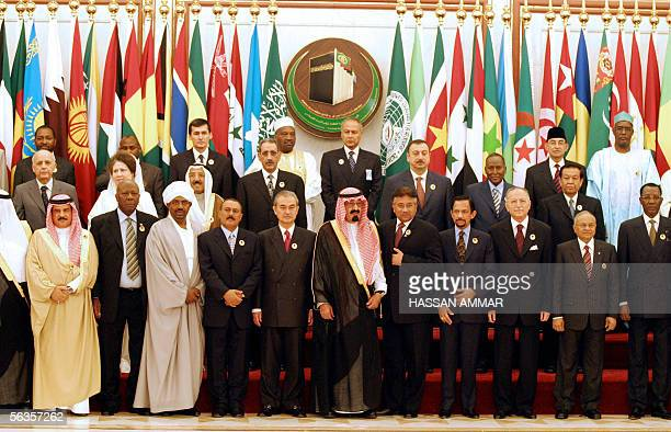 Leaders of the 57-member Organisation of the Islamic Conference pose during a photo opportunity at the Al-Safa palace in the holy Muslim city of...