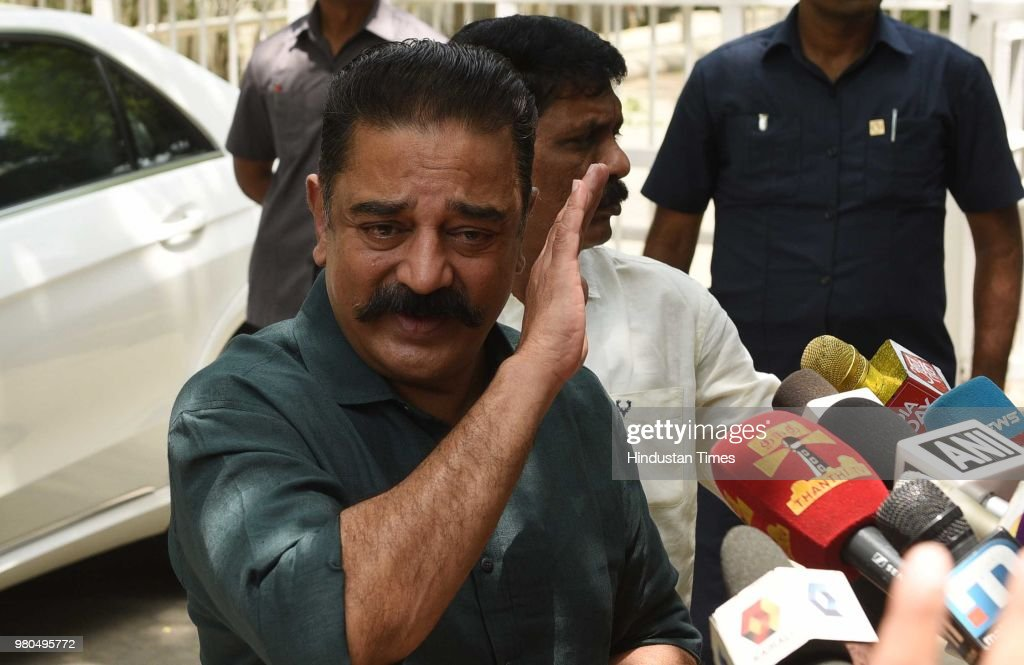 Actor-Turned-Politician Kamal Haasan Meets Sonia Gandhi In New Delhi
