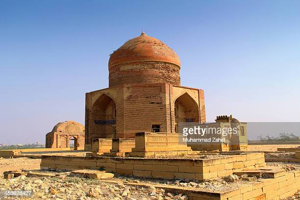 Makli Hills, Thatta, Sindh, Pakistan - One of the largest necropolises in the world, with a diameter of approximately 8 kilometers, Makli Hill is...