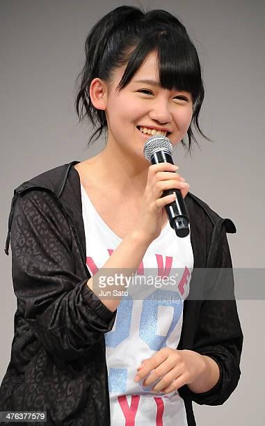 Mako Kojima of AKB48 attends the Alpen brand ambassador press event at Ebisu Garden Place on March 3 2014 in Tokyo Japan