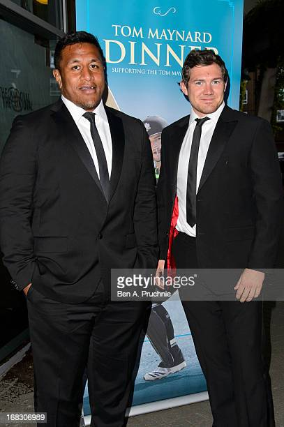 Mako Vunipola and Alex Goode attend the Tom Maynard Memorial Ball at The Kia Oval on May 8 2013 in London England