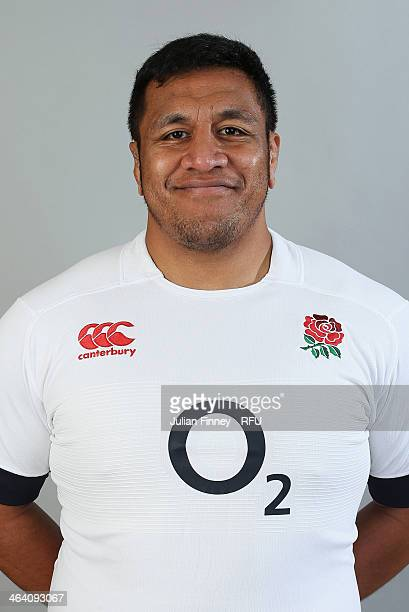 Mako Vunipola of England poses for a portrait during the England Six Nations Squad Photo Call at the Penny Hill Hotel on January 20 2014 in Bagshot...