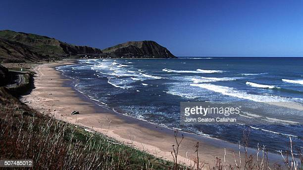 makorori beach - gisborne stock photos and pictures
