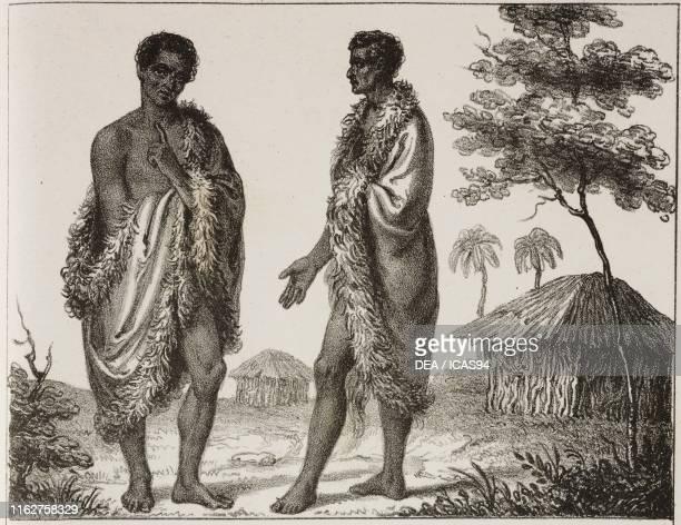 Makossi people Africa lithograph from Galleria universale di tutti i popoli del mondo ossia storia dei costumi religioni riti governi d'ogni parte...