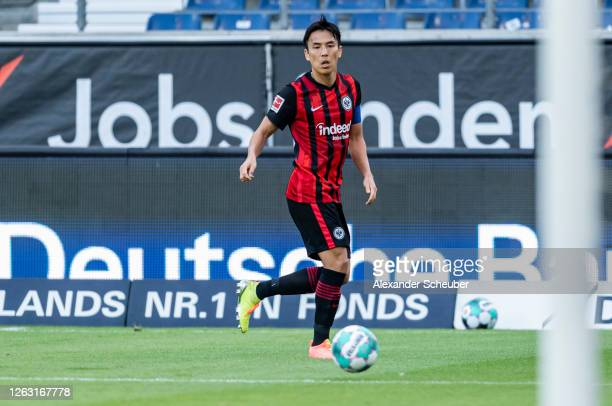 Makoto Hasebe of Frankfurt controls the ball during the friendly match between Eintracht Frankfurt and AS Monaco at Deutsche Bank Park on August 01,...