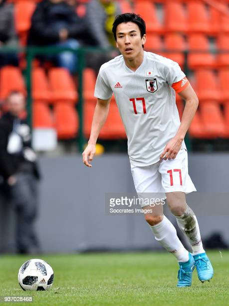 Makoto Hasebe of Japan during the International Friendly match between Japan v Mali at the Stade Maurice Dufrasne on March 23 2018 in Luik Belgium