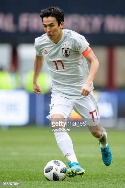 Makoto Hasebe of Japan during the International friendly match between Japan and Mali at the Stade de Sclessin on March 23 2018 in Liege Belgium