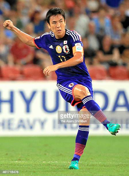 Makoto Hasebe of Japan in action during the 2015 Asian Cup Group D match between Iraq and Japan at Suncorp Stadium on January 16 2015 in Brisbane...