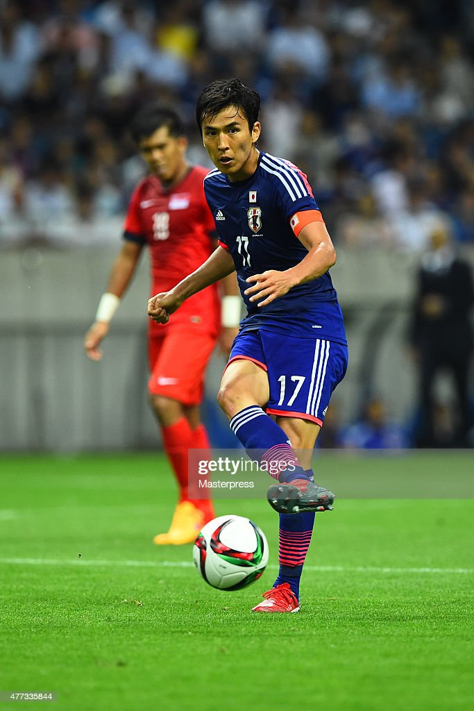 Makoto Hasebe of Japan in action during the 2018 FIFA World Cup Asian Qualifier second round match between Japan and Singapore at Saitama Stadium on June 16, 2015 in Saitama, Japan.