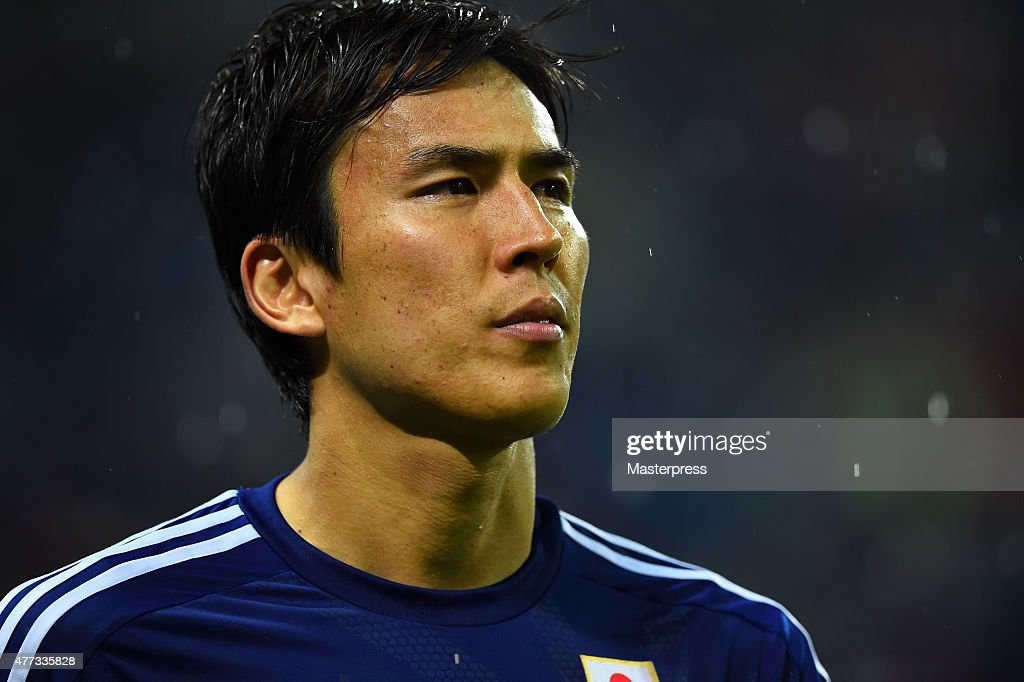 Makoto Hasebe of Japan looks on after the 2018 FIFA World Cup Asian Qualifier second round match between Japan and Singapore at Saitama Stadium on June 16, 2015 in Saitama, Japan.