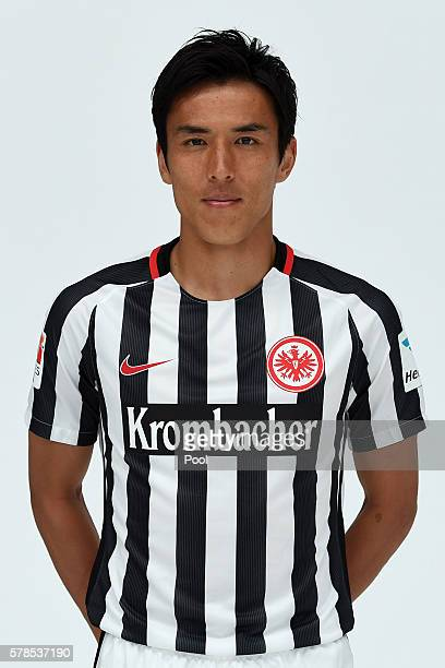 Makoto Hasebe poses during the Eintracht Frankfurt Team Presentation on July 21 2016 in Frankfurt am Main Germany