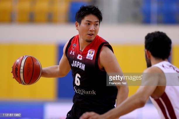 Makoto Hiejima of Japan in action during the FIBA World Cup Asian Qualifier match between Qatar and Japan on February 24 2019 in Doha Qatar