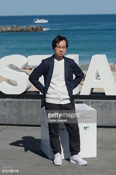 Makoto Shinkai attends 'Kimi No Na Wa ' photocall during 64th San Sebastian Film Festival on September 24 2016 in San Sebastian Spain