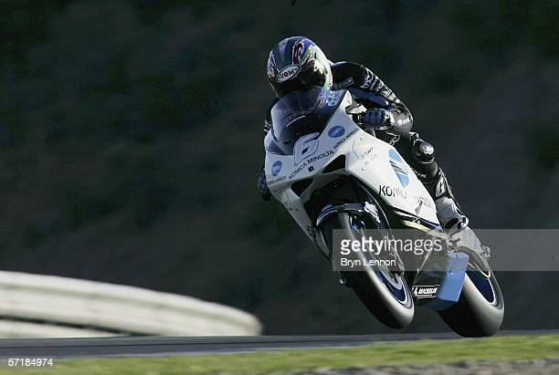 Makoto Tamada of Japan and Konica Minolta Honda in action during Warm Up for the MotoGP of Spain at the Circuito de Jerez omn March 25 2006 in Jerez...