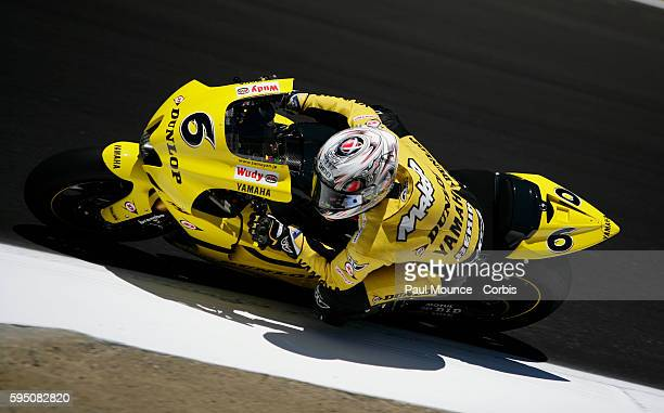 Makoto Tamada of team Dunlop Yamaha Tech 3 on track during final qualiying for the MotoGP event at the Red Bull US Grand Prix held at Mazda Laguna...