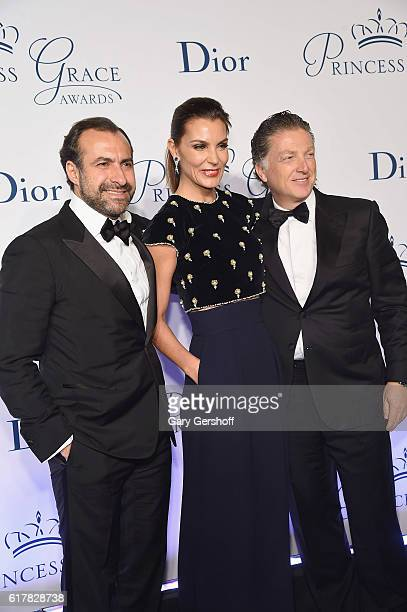 Makram Azar Mar Flores and Elias Sacal attend the 2016 Princess Grace Awards Gala at Cipriani 25 Broadway on October 24 2016 in New York City