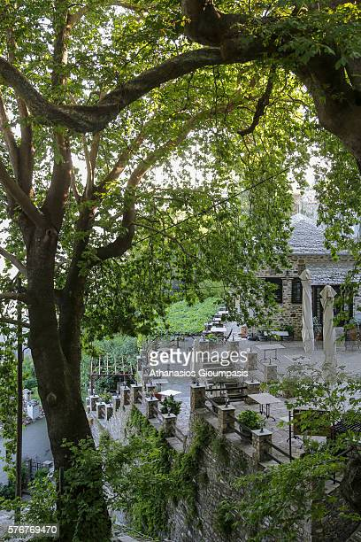Makrinitsa village with traditional Pelion architecture on July 07 2016 in PelionGreece Makrinitsa is one of the most popular destinations in Pelion