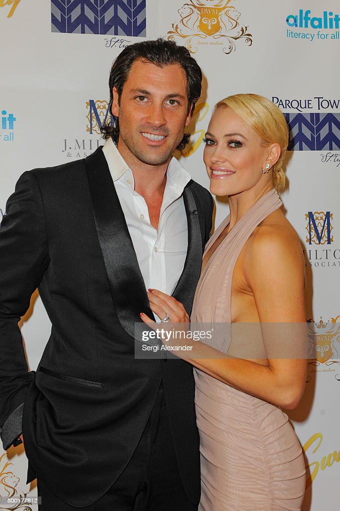 Maks Chmerkovskiy and Peta Murgatroyd attend SWAY Alfalit Gala at Gary Nader Art centre on December 5, 2015 in Miami, Florida.